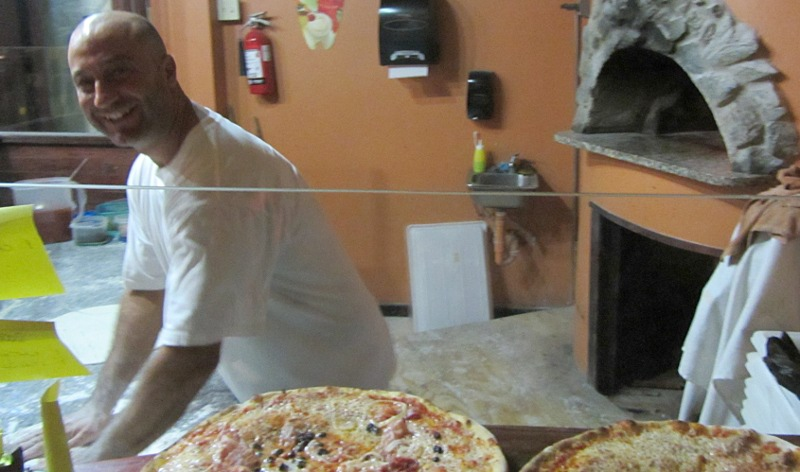 "Genuine Italian pizza at ""La Cantina"" in Tobago"