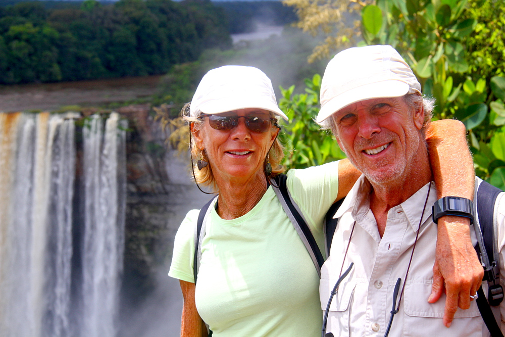 Bob and Christine at Kaieteur Falls, Guyana