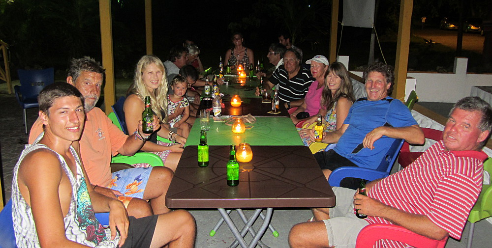 All the sailors at the Curve Bar, Tobago