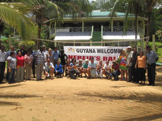 Nereid's Rally welcome at Hurakabra Resort, Guyana