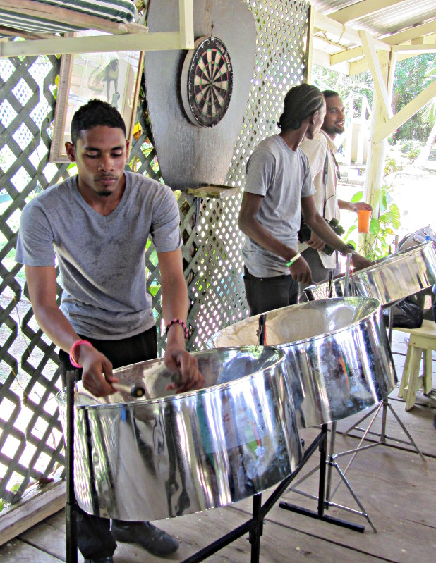A steel band welcomes rally participants at Hurakabra