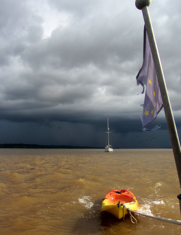 S/V Hope follows Eileen leaving Guyana's rainy season behind.