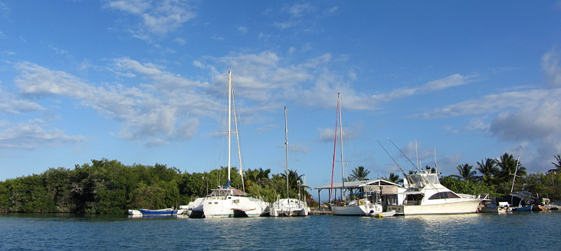 The tiny marina in Barahona