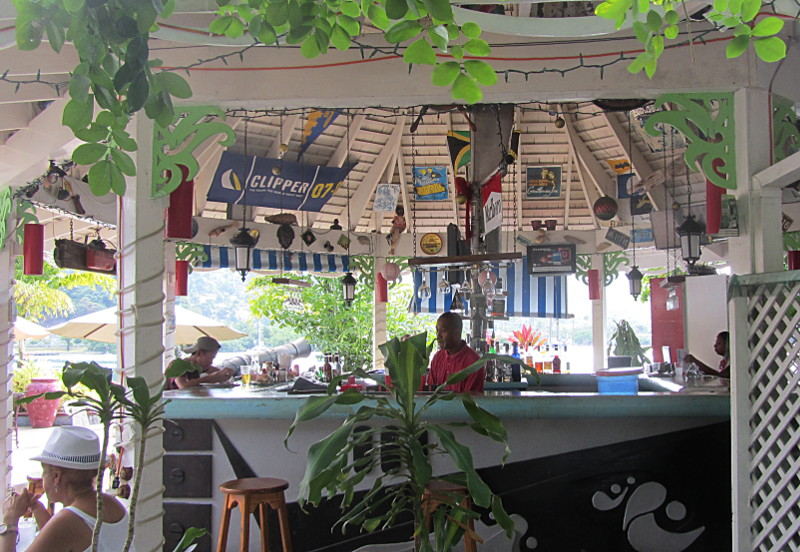 The bar at Errol Flynn Marina, Port Antonio