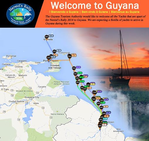 Our GPS tracks to Guyana