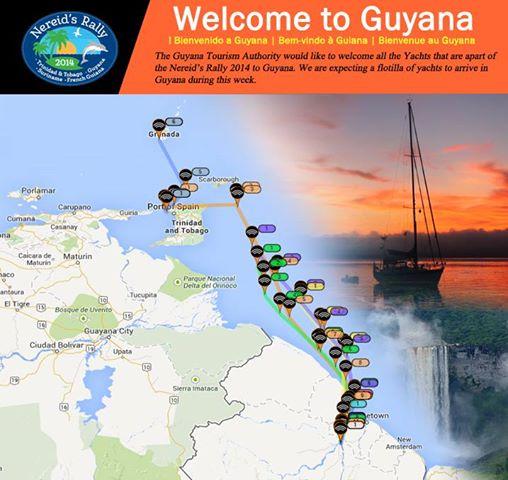 Our GPS tracks to Guyana