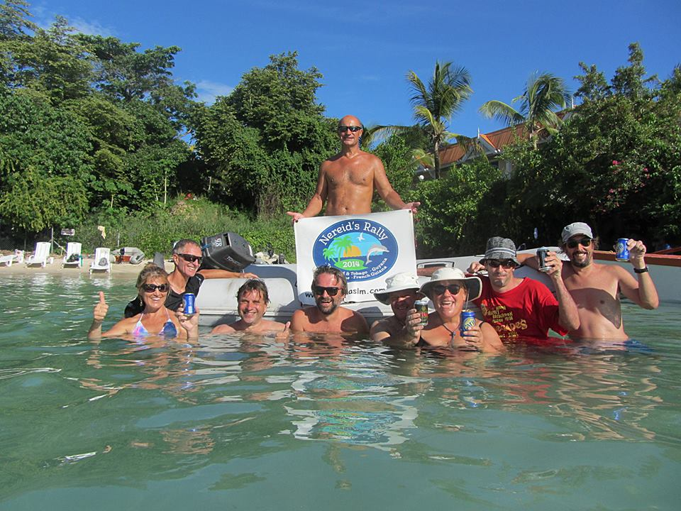The Nereid's Rally send off in Tobago