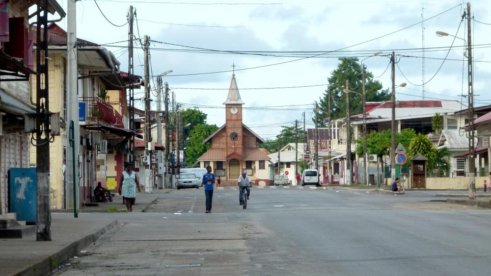 The town of Saint Laurent du Maroni