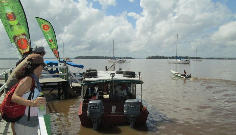 The anchorage off Hurakabra River Resort